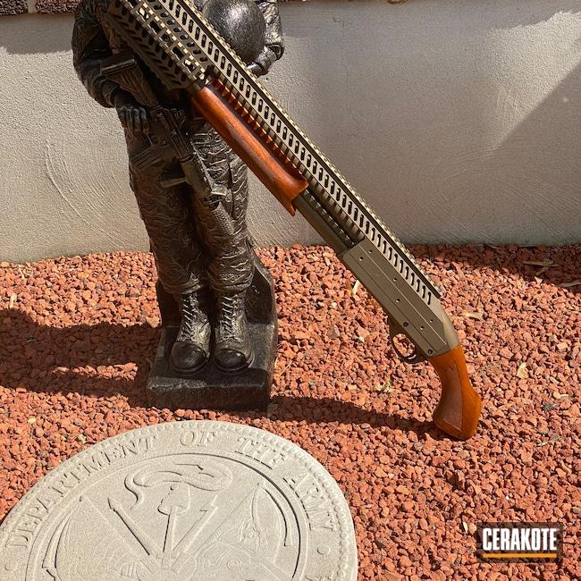 Cerakoted: S.H.O.T,Quad Rail,Burnt Bronze H-148,12 Gauge,Remington 870