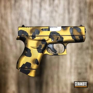 Glock 43 Cerakoted Using Armor Black, Burnt Bronze And Gold