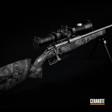 Bolt Action Rifle Cerakoted Using Sig™ Dark Grey, Titanium And Graphite Black