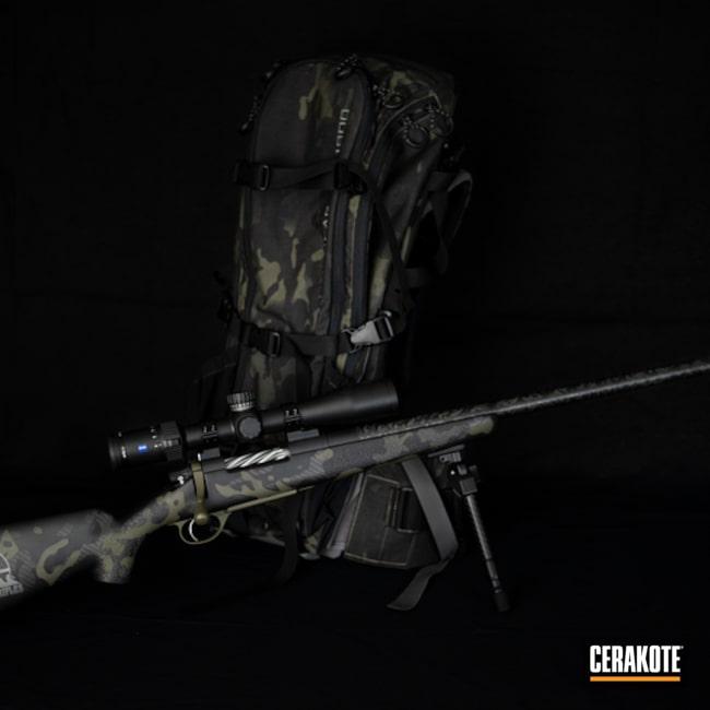 Multicam Bolt Action Rifle Cerakoted Using Cobalt Kinetics™ Green And Graphite Black