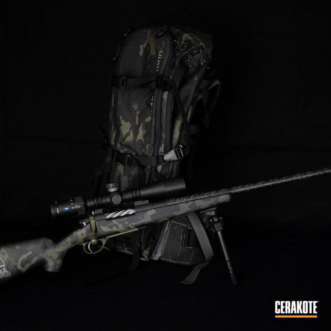 Cerakoted: S.H.O.T,Bolt Action Rifle,Custom Rifle,Snowy Mountain Rifles,MultiCam,Graphite Black H-146,Camo,Exo Pack,MultiCam Black,COBALT KINETICS™ GREEN H-296