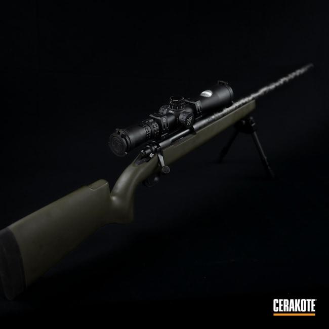 Cerakoted: S.H.O.T,Bolt Action Rifle,Custom Rifle,Snowy Mountain Rifles,Graphite Black H-146,MAGPUL® O.D. GREEN H-232,Remington 700