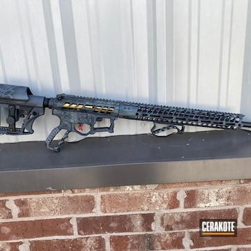 Kryptek Pattern Rifle Cerakoted Using Sig™ Dark Grey, Sniper Grey And Graphite Black