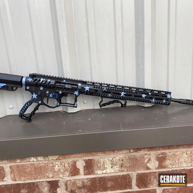 Cerakoted: S.H.O.T,Rifle,Custom Rifle,Graphite Black H-146,80M,F1 Firearms,POLAR BLUE H-326