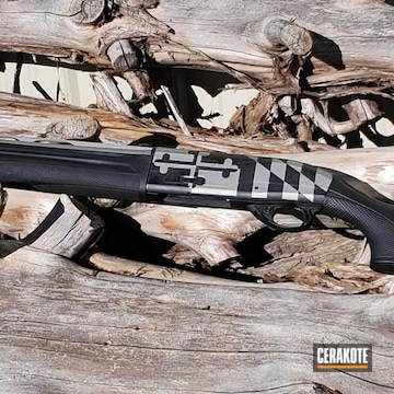 Beretta A391 Xtrema2  Cerakoted Using Titanium And Graphite Black
