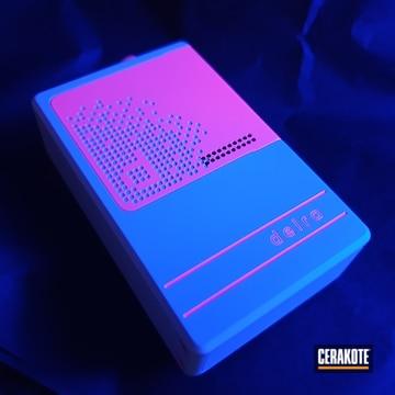 Glow In The Dark Vape Box Cerakoted Using Stormtrooper White And Pink Sherbet