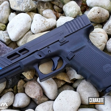 Glock Cerakoted Using Titanium, Nra Blue And Graphite Black
