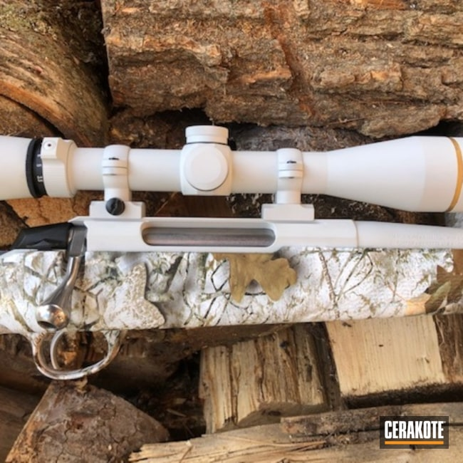 Tikka T3x And Leupold Scope Cerakoted Using Frost And Matte Ceramic Clear