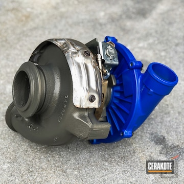 Turbo Cerakoted Using Blue Flame And Piston Coat (air Cure)
