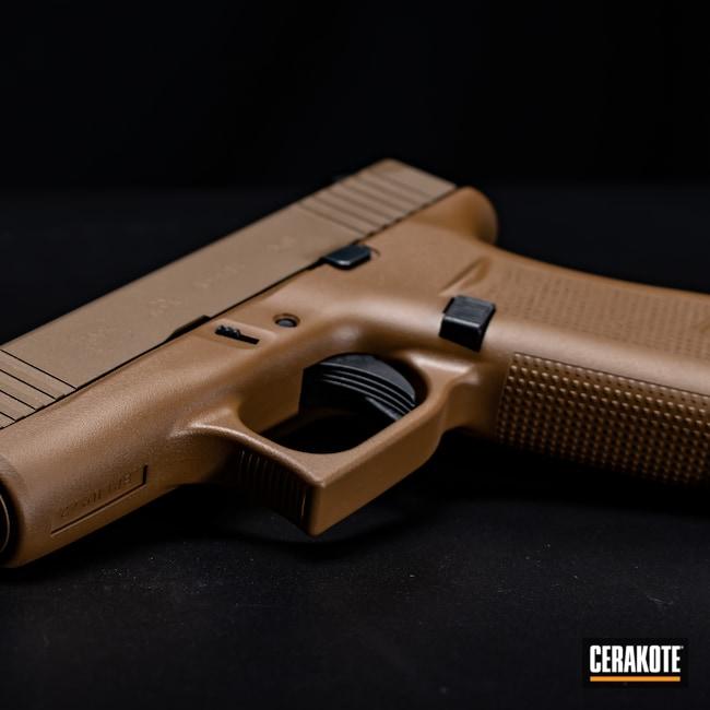 Cerakoted: S.H.O.T,9mm,Glock 43X,Firearm,Burnt Bronze H-148,Glock,A.I. Dark Earth H-250