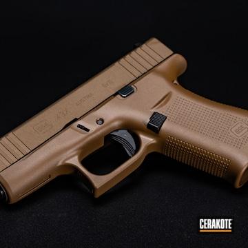 Glock 43 Cerakoted Using A.i. Dark Earth And Burnt Bronze
