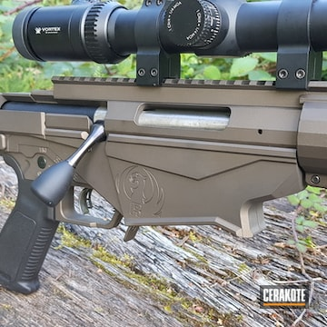Ruger Precision Rifle 308 Cerakoted Using Midnight Bronze And Graphite Black