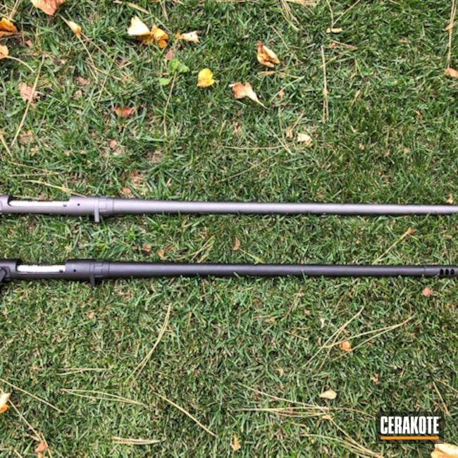 Cerakoted: S.H.O.T,Winchester,Graphite Black H-146,Barrel,Tungsten H-237,Savage