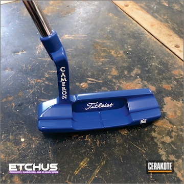 Scotty Cameron Putter Cerakoted Using Blue Flame