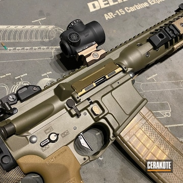Lwrc M6-ic A5 Sbr Cerakoted Using Cobalt Kinetics™ Green