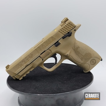Smith & Wesson M&p 40 Cerakoted Using Snow White, Coyote Tan And Matte Armor Clear