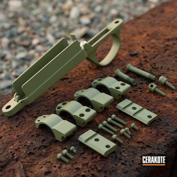 Bergara Rifle Parts Cerakoted Using Multicam® Dark Green
