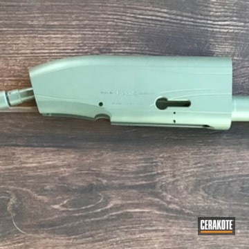 Beretta Shotgun Receiver Cerakoted Using Forest Green