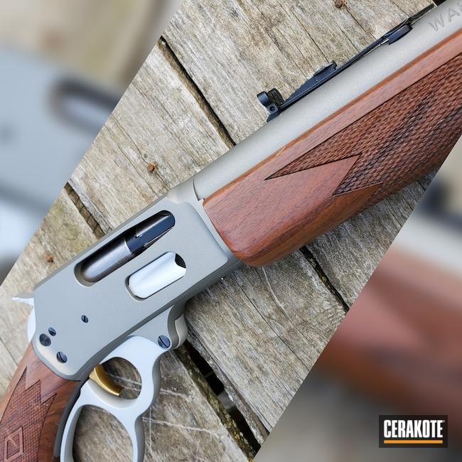 Cerakoted: S.H.O.T,Rifle,Marlin,Lever Action,3030,Satin Aluminum H-151,Titanium H-170,336