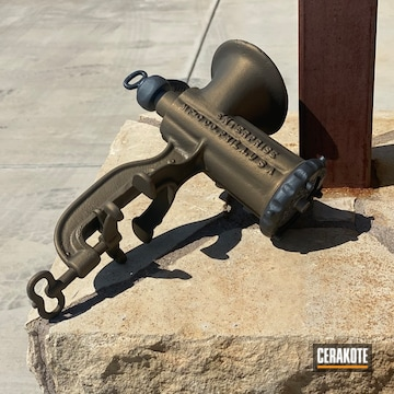 Vintage Meat Grinder Cerakoted Using Sniper Grey And Burnt Bronze