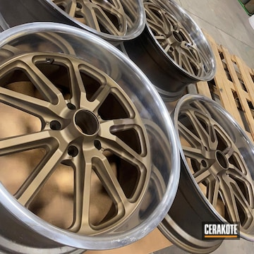 Wheels Cerakoted Using Burnt Bronze