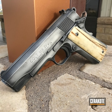 Colt Mk Iv Cerakoted Using Graphite Black And Satin Mag