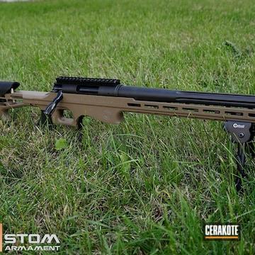 Thompson Center 308 Win Bolt Action Rifle Cerakoted Using Fde