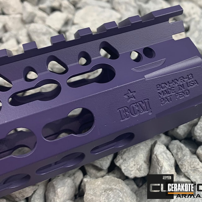 Cerakoted: S.H.O.T,Accessories,Handguard,Wild Purple H-197,Keymod,KMR,BCM