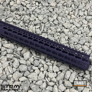 Bcm Kmr Handguard Cerakoted Using Wild Purple