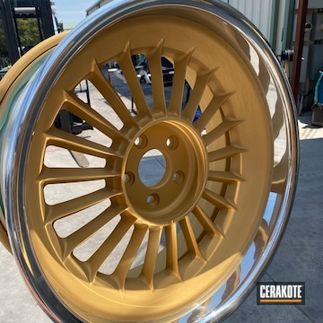 Wheels Cerakoted Using Gold