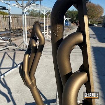 Exhaust Cerakoted Using Burnt Bronze