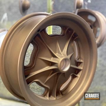 Auto Wheels Cerakoted Using Burnt Bronze