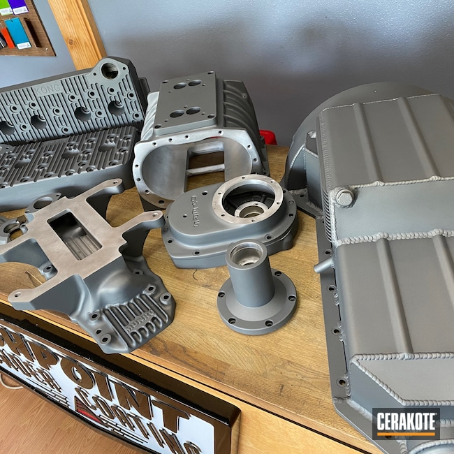 Cerakoted: Automotive Parts,Engine,Automotive,Tactical Grey H-227