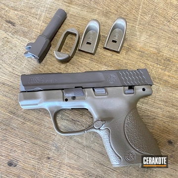 M&p 9 Shield Cerakoted Using Earth And Fde