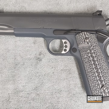 1911 Cerakoted Using Springfield® Grey, Combat Grey And Graphite Black