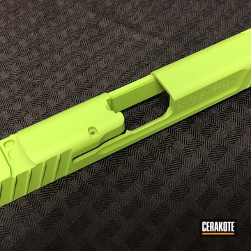 Smith & Wesson Slide Cerakoted Using Zombie Green