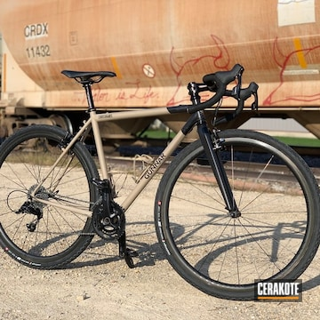 Custom Bicycle Cerakoted Using Mcmillan® Tan And Blackout