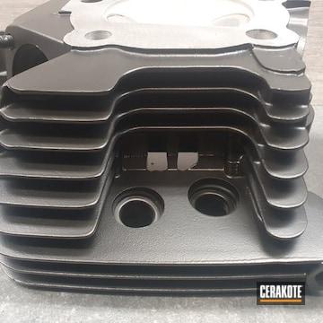 Harley Davidson Cylinder Cerakoted Using Cerakote Glacier Black