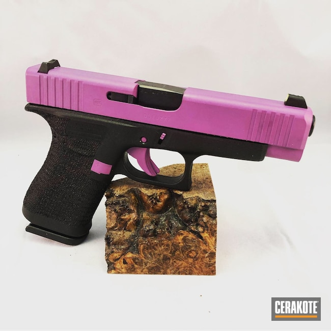 Cerakoted: Glock 48,S.H.O.T,9mm,Wild Purple H-197,Glock