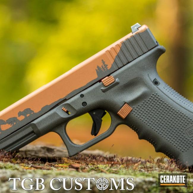 Glock 22 Gen 4 Cerakoted Using Tungsten And Copper