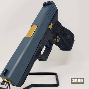 Glock 17 Cerakoted Using Blue Titanium