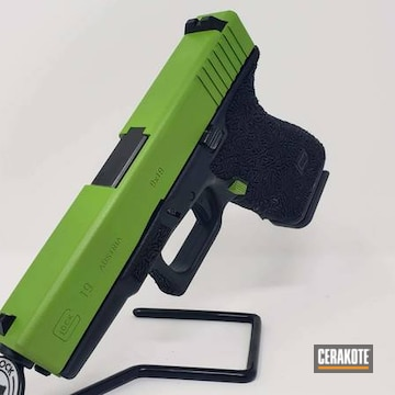 Glock 19 Cerakoted Using Zombie Green