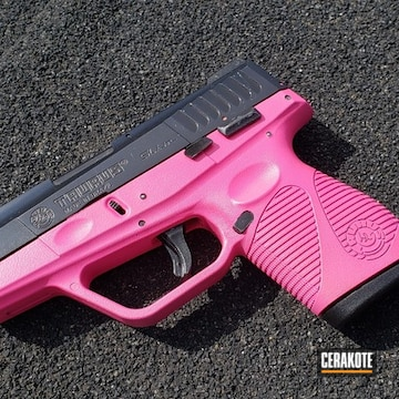 Taurus Slim Cerakoted Using Prison Pink