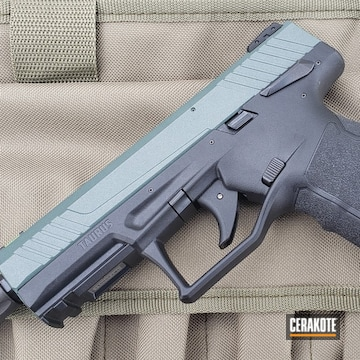 Taurus Pistol Cerakoted Using Charcoal Green