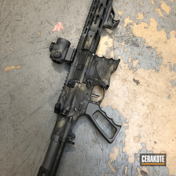 Palmetto State Armory Ar Cerakoted Using Combat Grey, Sniper Grey And Graphite Black