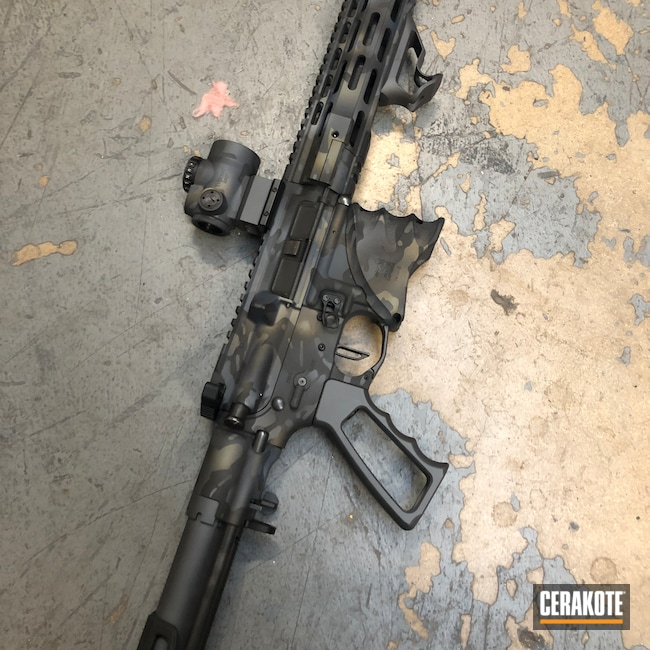 Cerakoted: S.H.O.T,Palmetto State Armory,Sniper Grey H-234,AR Pistol,MultiCam,Graphite Black H-146,NORTHERN LIGHTS H-315,Camo,Pistol,Trijicon,Combat Grey H-130,Custom Camo