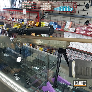 Multicam Bolt Action Rifle Cerakoted Using Multicam® Dark Green