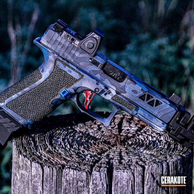 Cerakoted: S.H.O.T,Hodge Defense,Midnight Blue H-238,Pistol,Custom Camo,Sniper Grey H-234,MultiCam Navy,MultiCam,Upper Receiver,HDSI,Socom Blue H-245,Camo,KEL-TEC® NAVY BLUE H-127,Satin Aluminum H-151,Upper,Hodge Deffense Systems,Handguns,AR-15