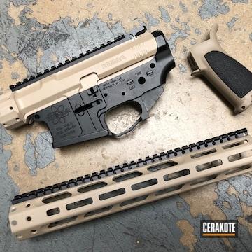 Mega Arms Ar Builders Kit Cerakoted Using Mcmillan® Tan And Graphite Black