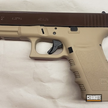 Glock 21 Cerakoted Using Desert Sand And Barrett® Bronze